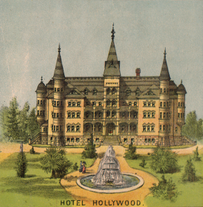 Hotel Hollywood, 1887, from the Map of Hollywood by H. H. Wilcox & Co. (Courtesy The Huntington Library)